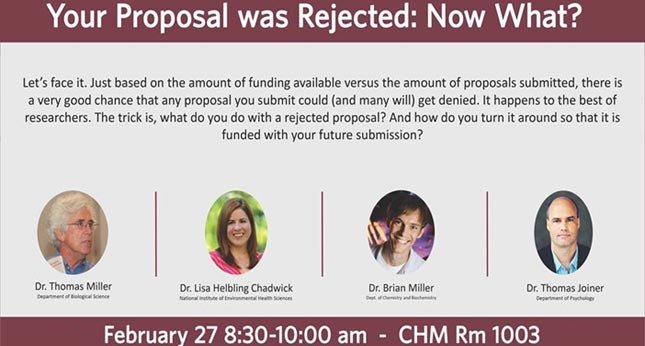 <i>Your Proposal was Rejected: Now What? <a href='https://www.youtube.com/watch?v=_kZbYrjaH2s&feature=youtu.be' target='_blank'>More...</a></i>