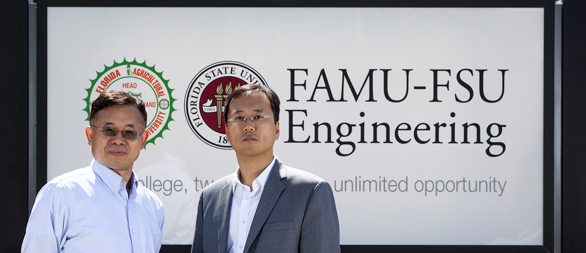 Xiuwen Lui and Sungmoon Jung at FAMU-FSU Engineering
