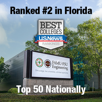 FAMU-FSU Engineering moved up to Top 40 nationwide and Top 2 schools in Florida