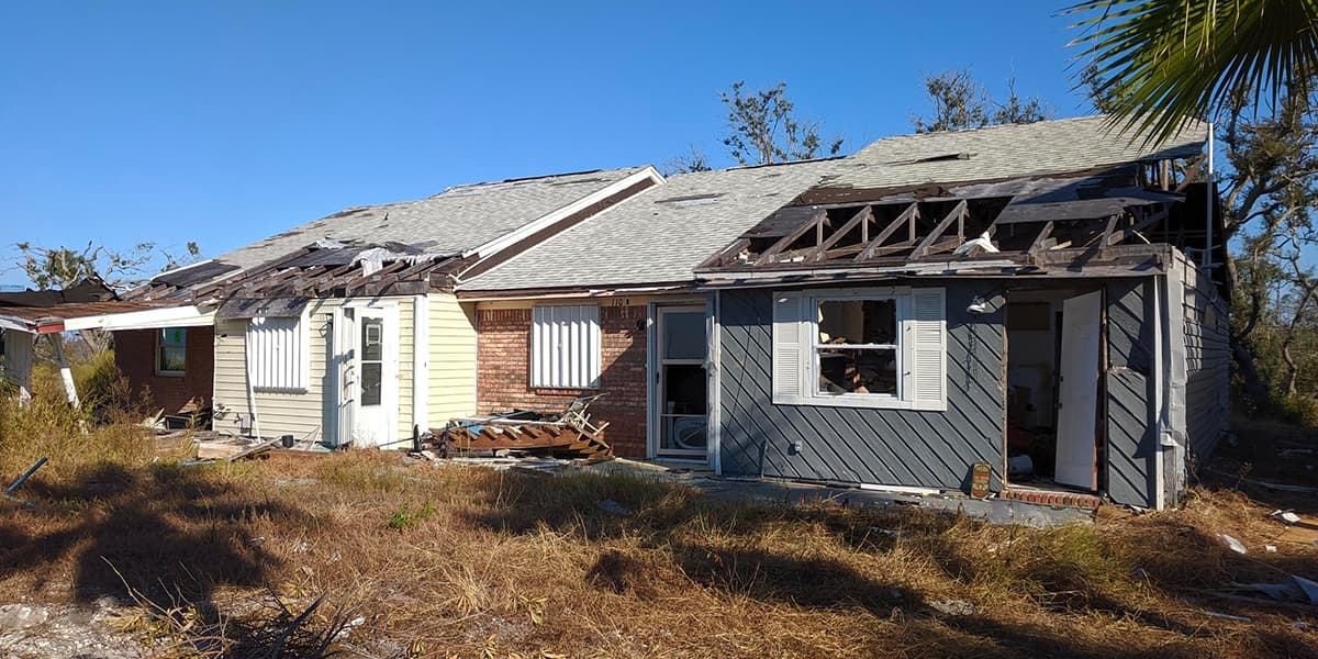 Aftermath of Hurricane Michael at Mexico Beach. If the residents of these homes needed to keep their medicines cool, they obviously wouldn't be able to do it here.