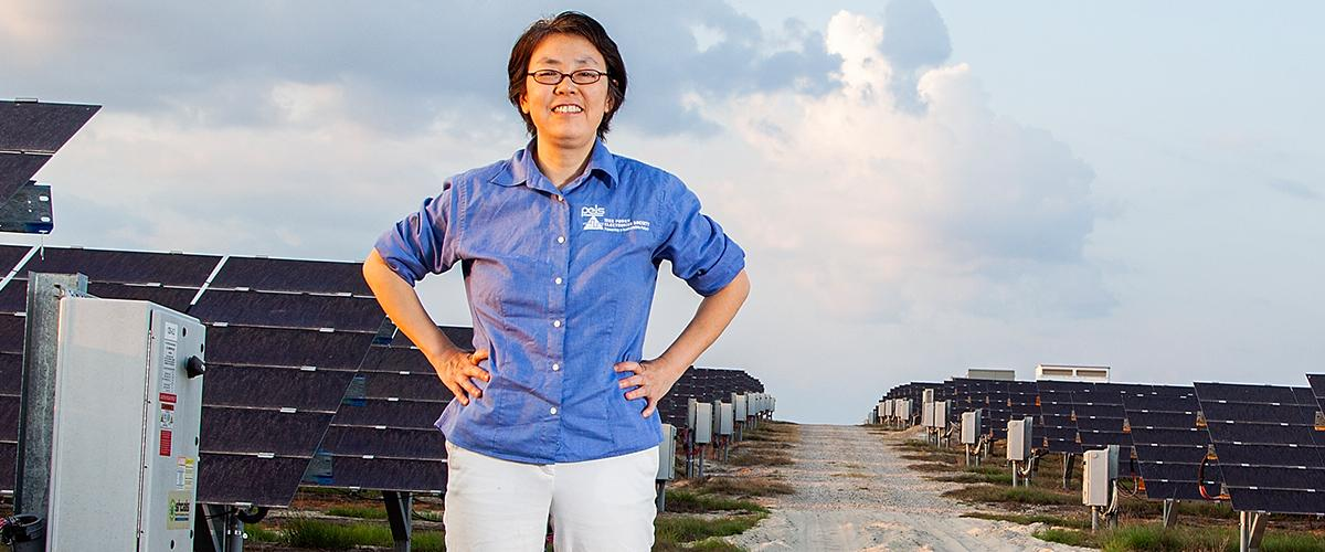 HELEN LI is focused on bridging the world's solar energy capacity with its conventional energy needs through new photovoltaic converters and other novel electric technologies.
