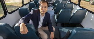 "SUNGMOON JUNG studies ""cutaway"" bus design and crash data to help prescribe Florida safety standards for the industry."