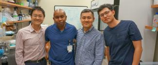 L-R-Hoyong Chung, Wade Douglas, Choogon Lee, and Minkyu Kim (Kim is post-doc in Chung group)